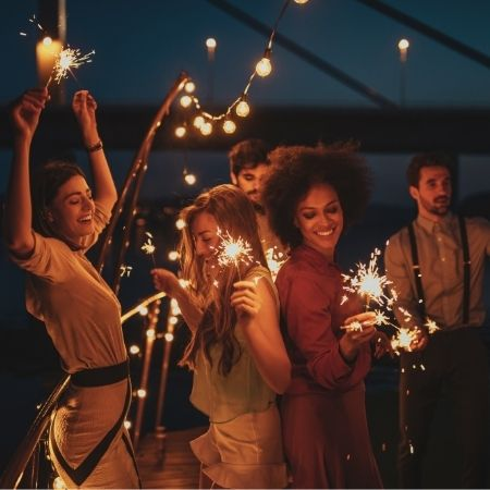 menschen tanzen auf Party hochzeits-musik